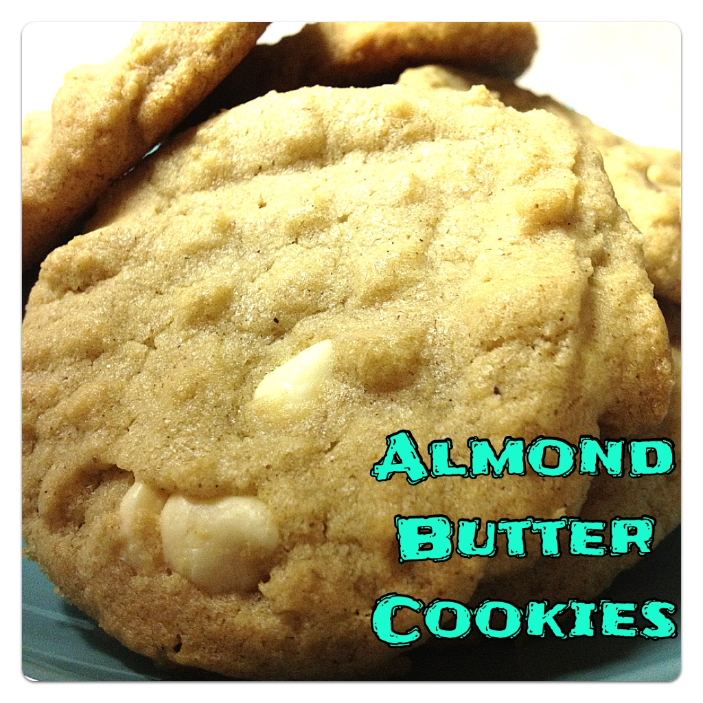 Almond Butter Cookies (with White Chocolate Chips)